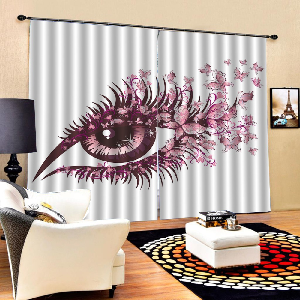 Blackout curtain Luxury Blackout 3D Window Curtains For Living Room Bedroom eye curtains  Blackout curtain Luxury Blackout 3D Window Curtains For Living Room Bedroom eye curtains