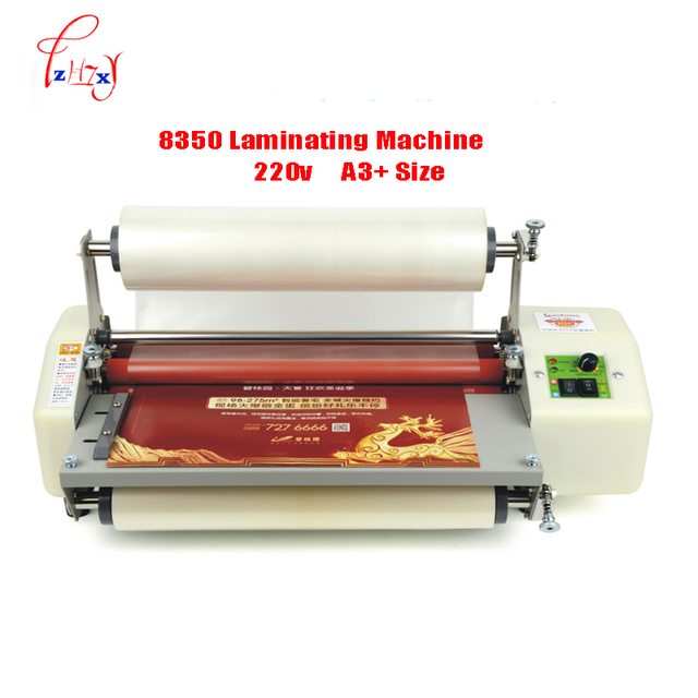 "12th 8350 laminator machine A3+ hot laminating machine 13"" Laminator Four Rollers cold roll laminator 220v 1pc"