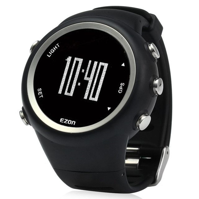 T031 Homens EZON Profissional Esportes Ao Ar Livre Relógio GPS Rodando Série Resistente À Água