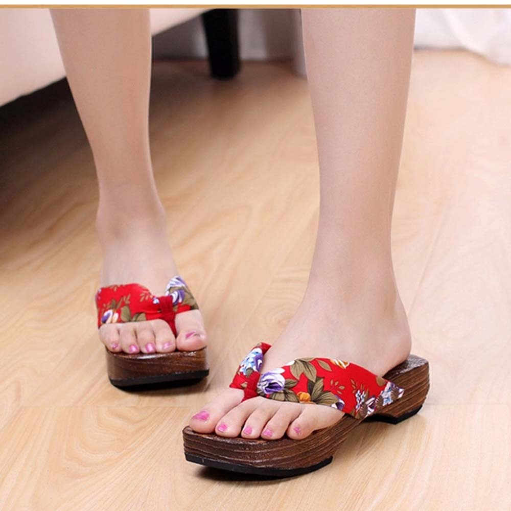 ฤดูร้อนรองเท้าแตะชายหาดลำลองรองเท้า Clog Flip Flops กลางแจ้ง Casual แพลตฟอร์ม Slates หญิงส้นสูง Mujer สไลด์