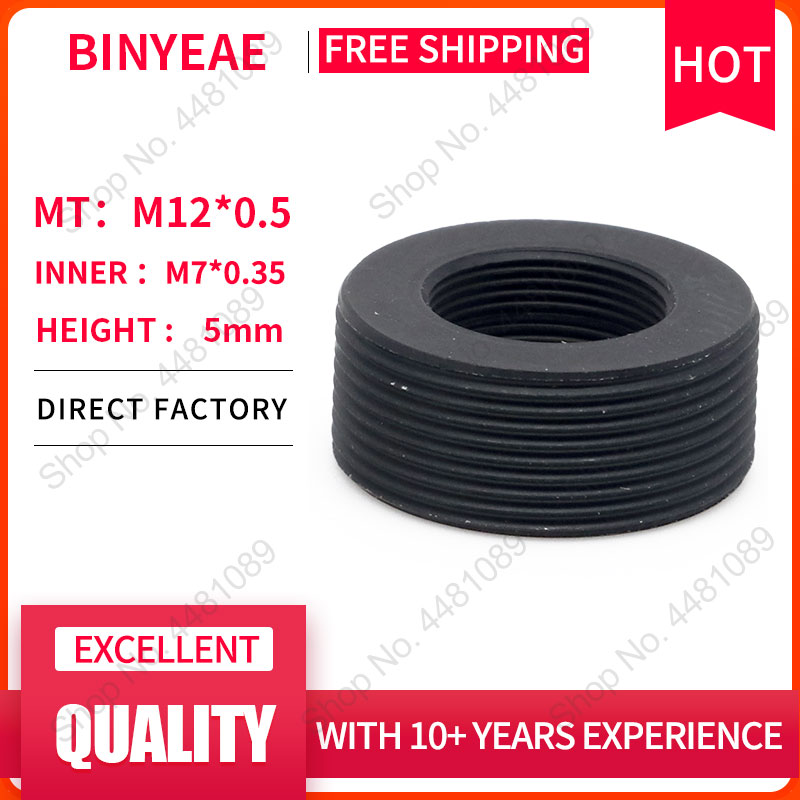 BINYEAE Mount Lens Holder M7 Mount To M12 Mount Adapter Ring, M7 To M12 Mount Converter Ring  Adapter