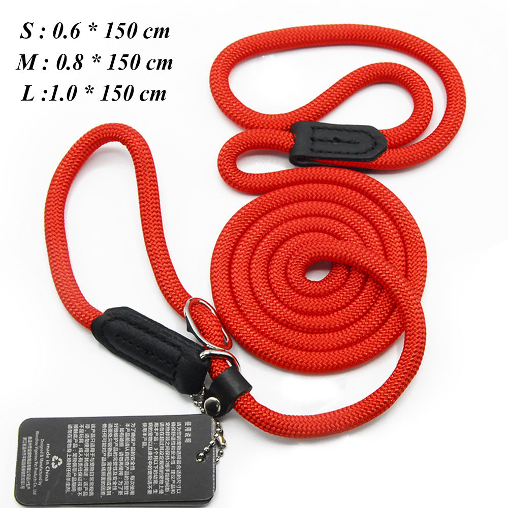 Dog Leashes For Small Dogs Collar Nylon Puppy Leash Collar Dog Leash For Large Dogs Basic Leashes Solid Rope (9)