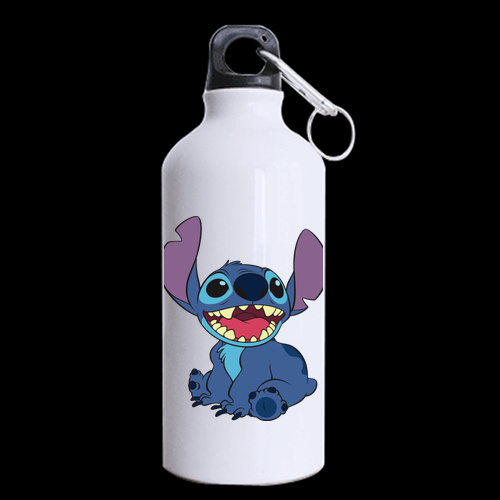 Stitch Cartoon style Printed Sports 13 5oz Aluminum Alloy Portable Water Bottle outdoor Camping Hiking Bottles