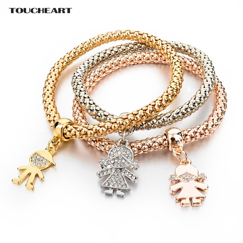 Toucheart 3pcs Women S Charm Bracelets Gold Color Friendship Pulseira Bijioux Femme Christmas Jewelry Sbr150192 In From