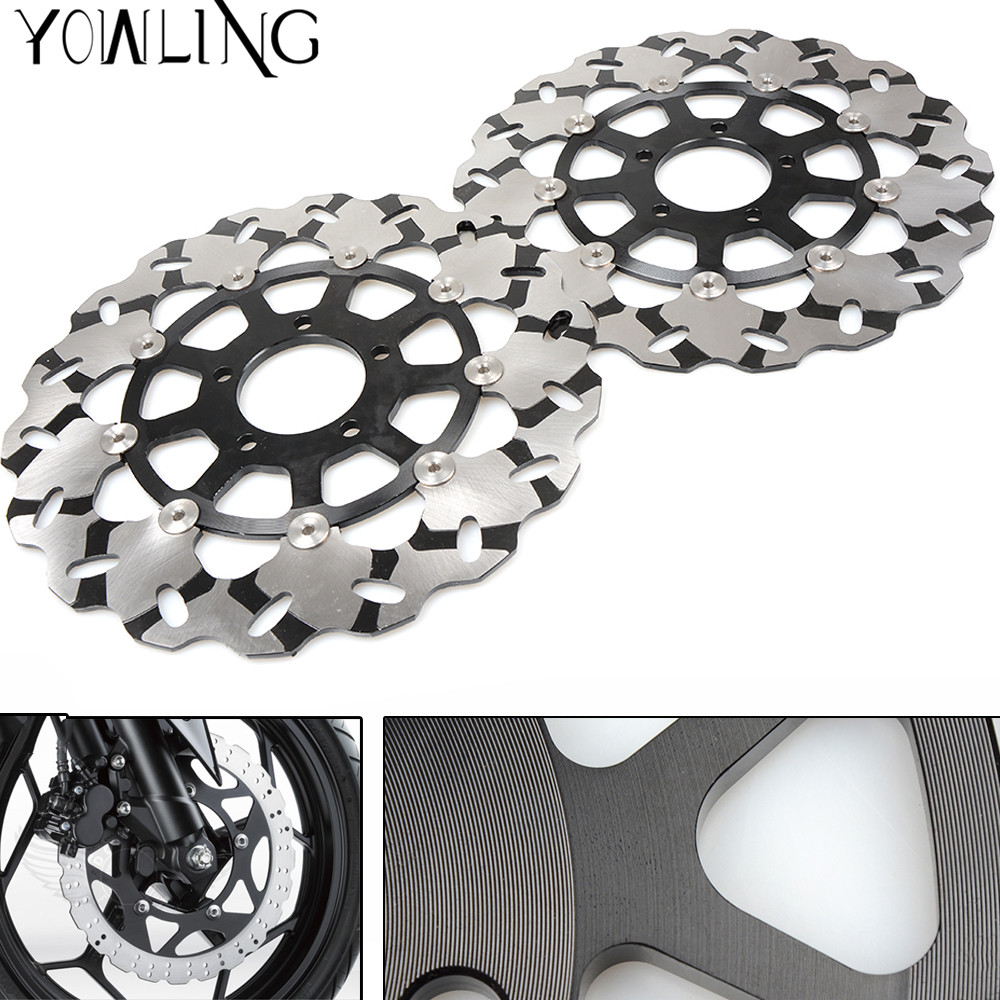 High quality Motorcycle Front Floating Brake Disc Rotor for Suzuki GSXR600 GSXR750 2006 2007 GSXR 600 K6 K7 GSXR 750 K6 K7 mabaiwan fashion new design leather dress men shoes lace up italy business wedding formal shoes men metal pointed toe male flats
