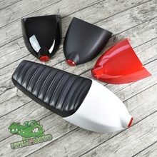 Universal Vintage Motorcycle Cushion Black Cafe Racer Seat refit motorcycle Caterpillar seat with cover and tail rear light