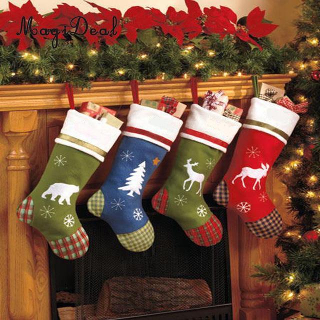 Bier Weihnachtsbaum.Us 15 77 4 Stücke Bier Rentier Schafe Baum Süßigkeiten Geschenk Weihnachten Strümpfe Weihnachtsbaum Hängen Handwerk Heimtextilien 40x26 Cm In 4