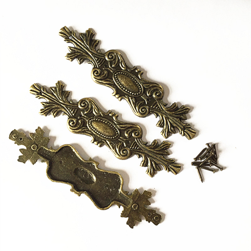 100MM Antique fillet alloy Trim Wooden four corners Furniture trim wrap  angle furniture, metal lace