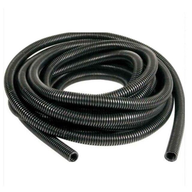 16.5\' Length Split Loom Tubing Inner Dia 8mm Plastic Flexible Pipe ...