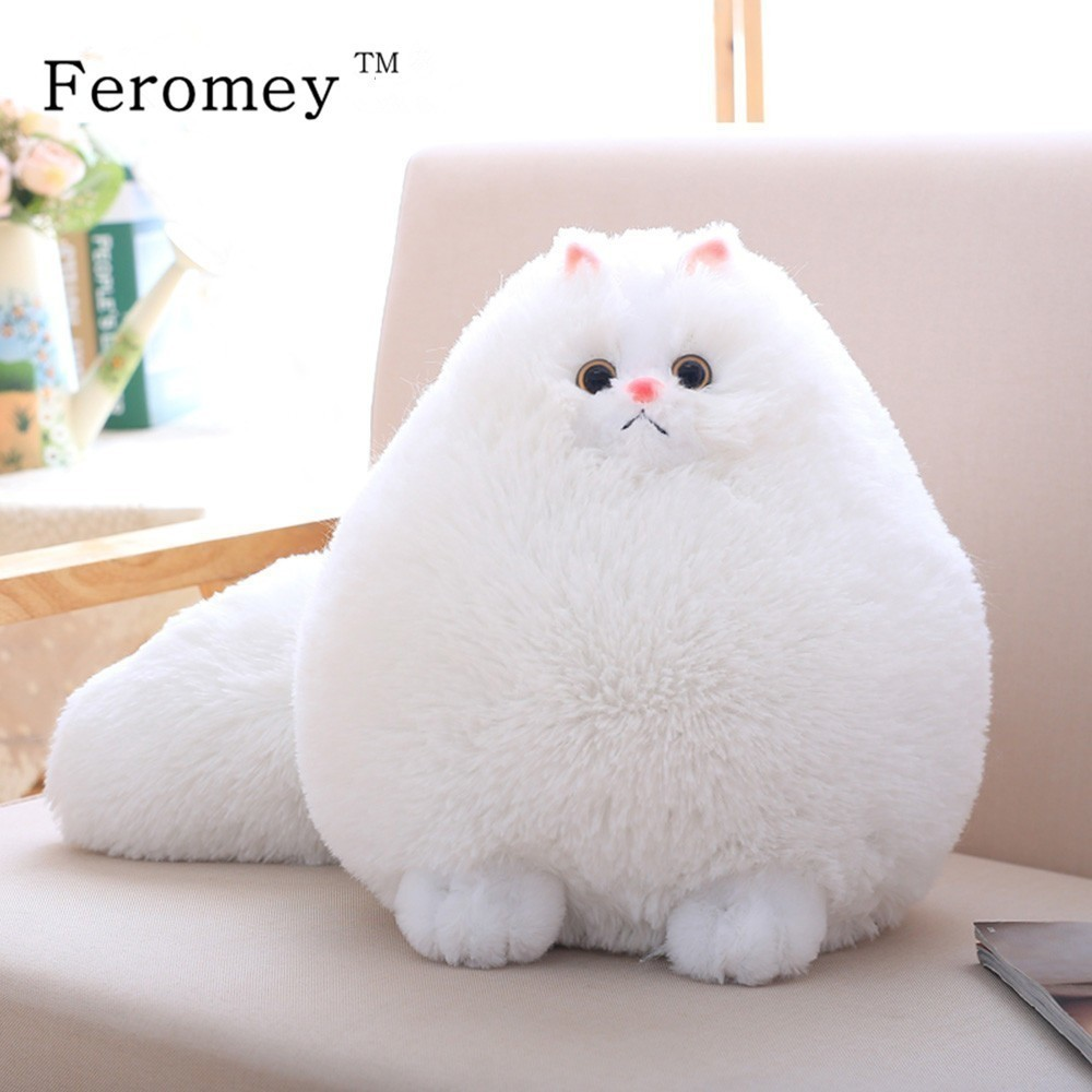 Kawaii Fluffy Cat Plush Toys Persian Cat Stuffed Dolls Soft Pillow Stuffed Animal Peluches Dolls Baby Kids Toys Christmas Gifts