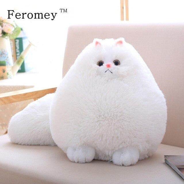Kawaii puszysty kot pluszowe zabawki perski kot wypchane lalki miękkie poduszki wypchane zwierzę Peluches lalki dla dzieci zabawki dla dzieci prezenty świąteczne