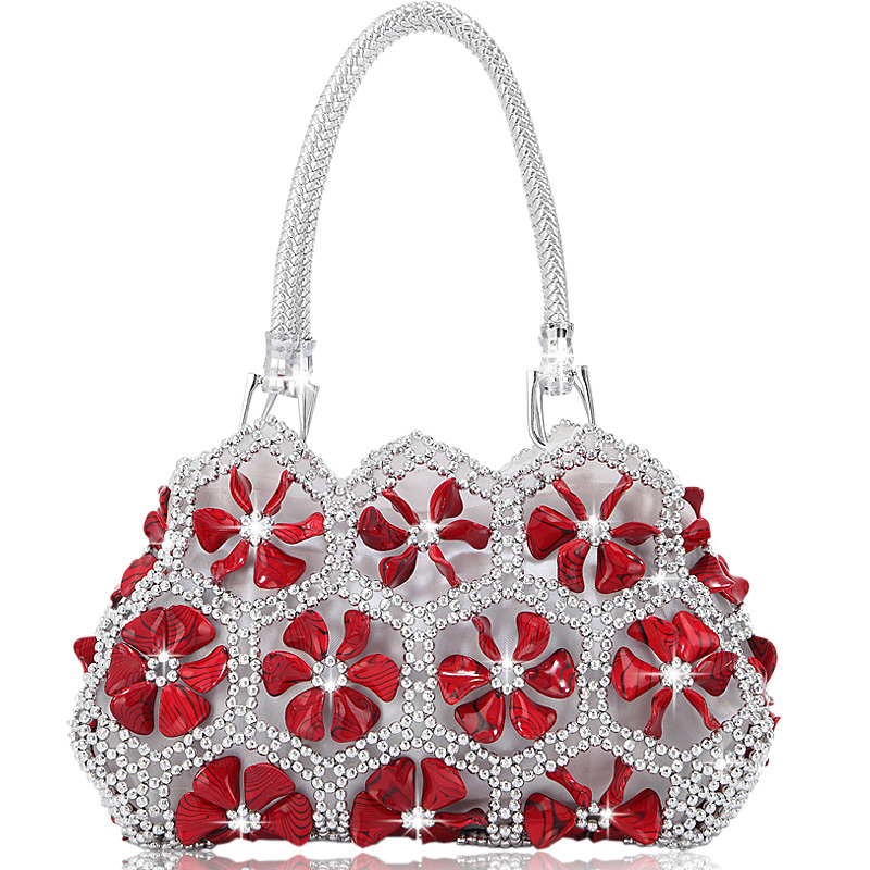 Luxury ~2014 Flower Bridal Bags Acrylic Beads Women Handbag ...