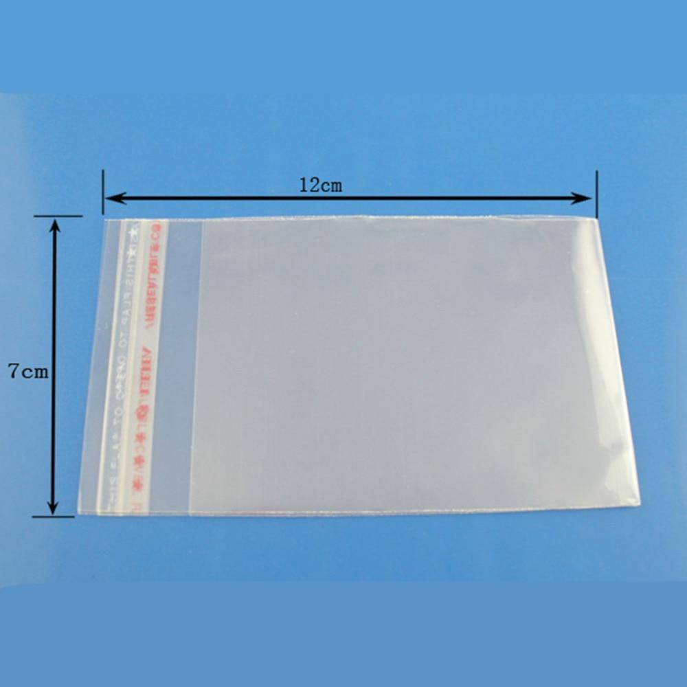 8SEASONS 200PCs Clear Self Adhesive Seal Plastic Bags 7x12cm  (B03359)