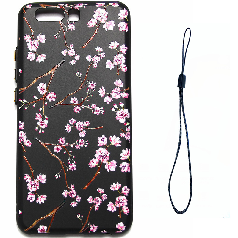 3D Relief flower silicone  case huawei p10 (8)
