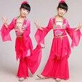 Crianças Vestido de Dança Yangko Traje Menina Dança Do Guarda-chuva das Crianças Clássicas Roupas de Dança Popular Chinesa Traje de Dança do Guarda-chuva