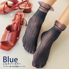 Woman Socks 1 Pair 2019 Spring New Fashion Socks  Solid Color Women Soft Cute Long Socks For Women Mesh Thin Socks
