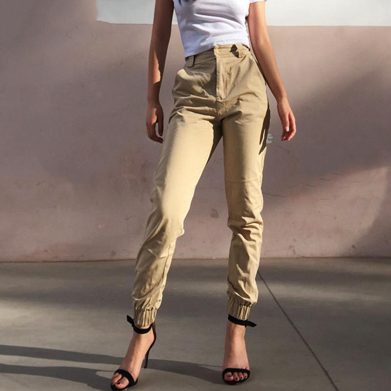 High Waist Camo Black   Pants   Joggers Women   Capris   Chain Cargo   Pants   Trousers Women Camouflage Korean Fashion
