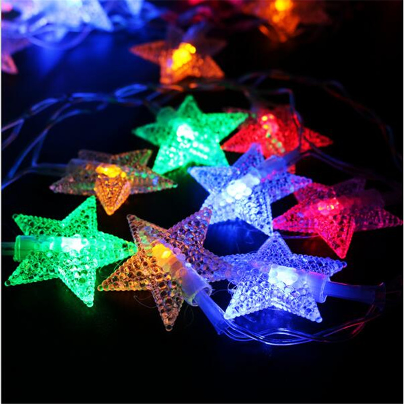 2018 New Year 7 5m 50led Star String Lights Fairy Garland