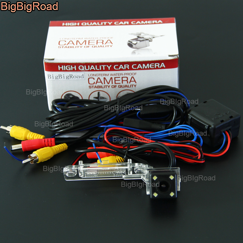 BigBigRoad Car Rear View Reverse Camera with Filter For Volkswagen Passat Multivan T5 SAGITAR Jetta Touran Caddy Transporter