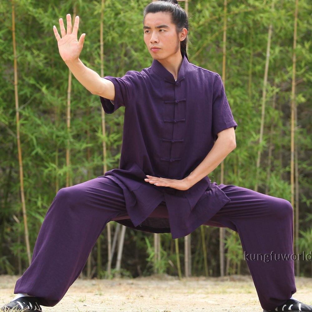 24 Colors Shortsleeves Summer Tai chi Uniform Martial arts Kung fu Wing Chun Shaolin Suit tai chi uniform clothing qi gong martial arts wing chun shaolin kung fu taekwondo cloths apparel pants clothing for men women