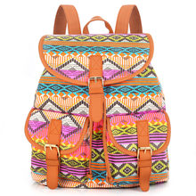 5399bfd4181d Sansarya New 2018 Aztec Style Print Canvas Teen Backpack Boho Shcool Bags  Bagpack Women Rucksack For