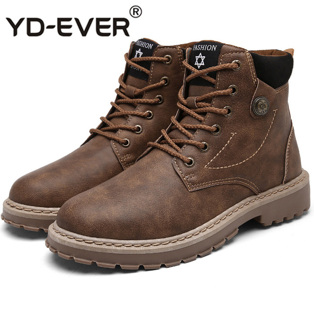 New High Top Wear-resistant Martin Boots Nonslip Rubber Bottom Work Shoes Men's Autumn Winter Casual Shoes