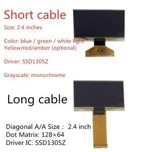 Image 1 - תעשייתי באיכות 2.4/2.42 אינץ OLED תצוגת 12864 LCD מסך להדגיש מכשיר 13V SSD1305 SSD1305Z תקע