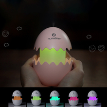 Funny Egg Three In One Usb Mini Air Humidifier 3 Hours Timing Touch Lamp Room Desk Small Home Appliances