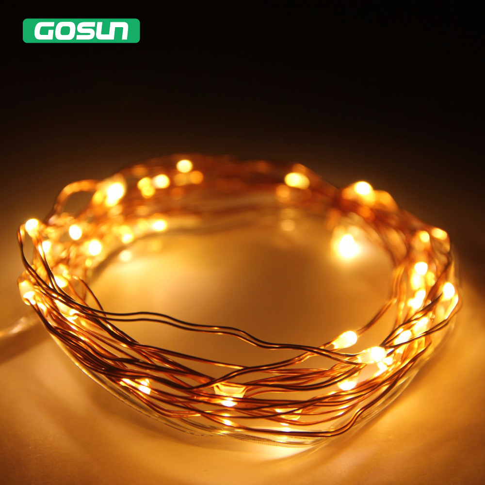 3M 30 led battery led copper string light 3pcs AA Battery Operated Fairy Party Wedding Christmas LED Wire Light