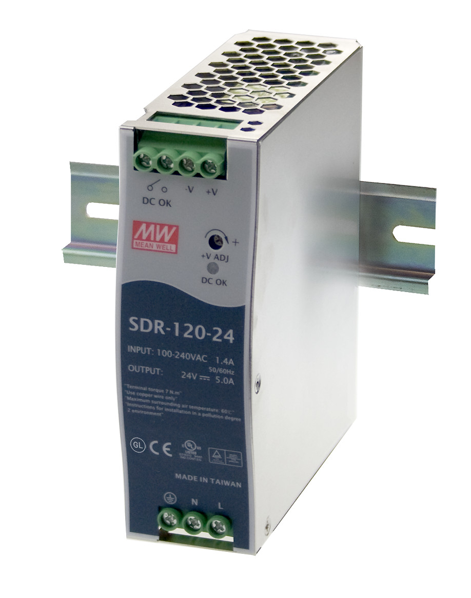 цена на MEAN WELL original SDR-120-12 12V 10A meanwell SDR-120 12V 120W Single Output Industrial DIN RAIL with PFC Function