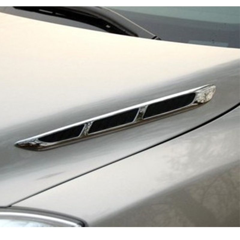 1 Pair car modified side air outlet hood air outlet stickers wind net modified car stickers shark side air outlet