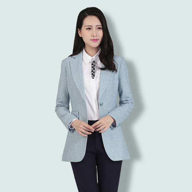 Wool Coat Blazer Women Suit Jacket Button Casual Suit Ladies Blazer