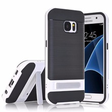 2017 new cellphone cases for Samsung Galaxy S7,50pcs/lot,fiber carbon slim kickstand cover for Glaxy S7 case,free shipping