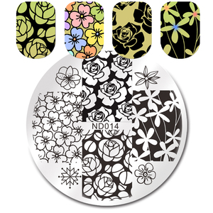 Image 5 - NICOLE DIARY Nail Stamping Plates Valentines Animal Plant Geometry Flower Nail Art Stamp Template Image Stamping Plate Stencil