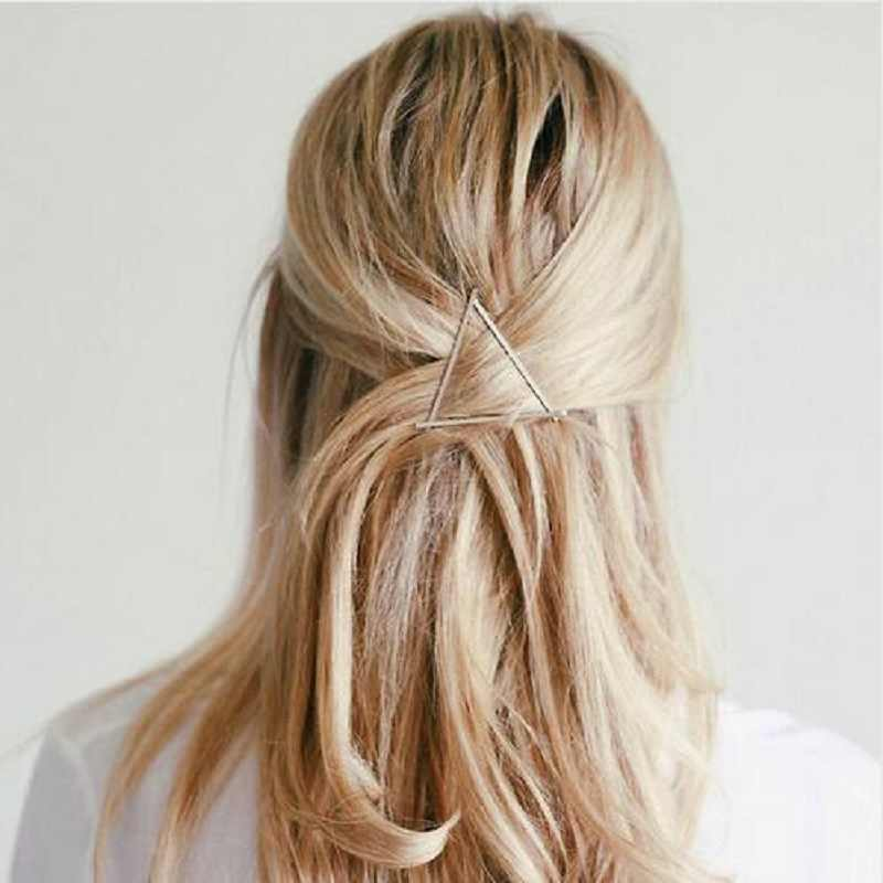2018 NEW Women Girls Fashion Hairpins Hollow Triangle Hair Clip Barrette Wedding Party Hair Accessories