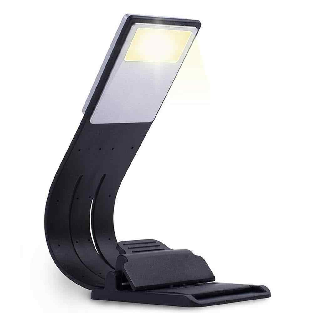 Теплый светодиодный светильник для чтения книг, лампа для зарядки через usb, 3 уровня яркости, мягкий свет, легко для глаз