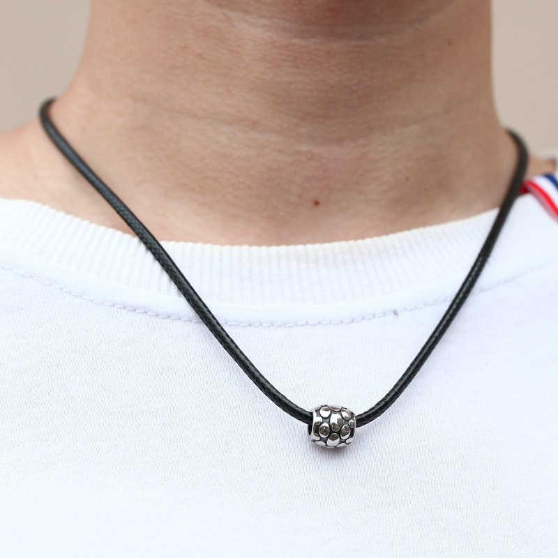 Mcllroy mężczyźni naszyjnik/czarny/skóra/ze stali nierdzewnej kotwica lew naszyjniki wisiorki moda męska choker naszyjnik liny biżuteria mężczyzna