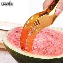 1 шт Высокое качество Нержавеющая сталь арбузный резак с 4 цвета фрукты Ножи резак для быстрого нарезания Кухня режущего инструмента