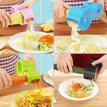 Urijk Multifunction Spiral Vegetable Slicers Double Grater Premium Noodle Cutter Zucchini Pasta Spaghetti Maker Knife Sharpener