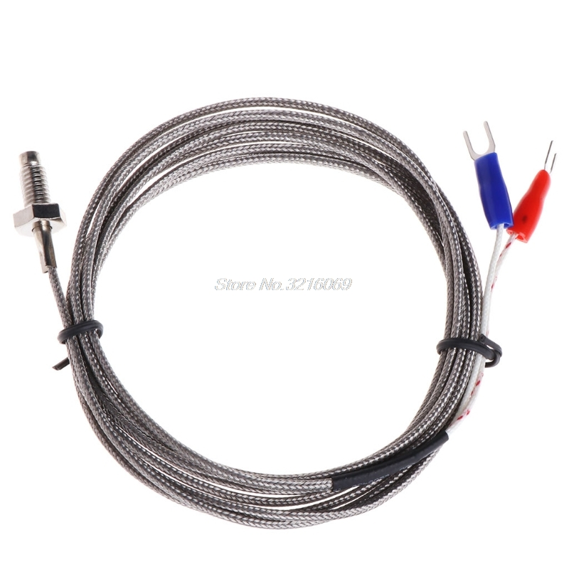 Thread M6 Screw Probe Temperature Sensor Thermocouple K Type Cable 2M 0-600degree цена 2017