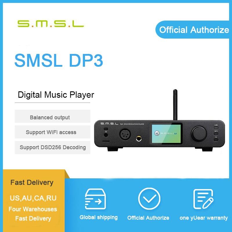 SMSL DP3 DSD DAC Amplificatore Audio Hifi Bluetooth DAC USB Amplificatore Audio Decoder Amplificatore Per Cuffie Balanced Lettore Amplificatori