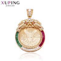 Xuping Mode Farbe Gold Neues Design Charme Stil Halskette Anhänger Imitation Schmuck Weihnachtsgeschenk S68-1-33072