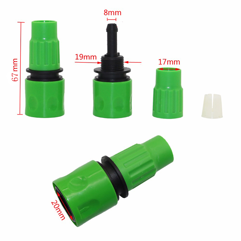 "One-Way Quick Connector Connection 3/8"" Hose Garden Watering Hose Connector Gardening Tools and Equipment Agriculture Tools 1 Pc 2"