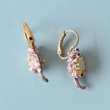 Glaze Cat Gem Earrings