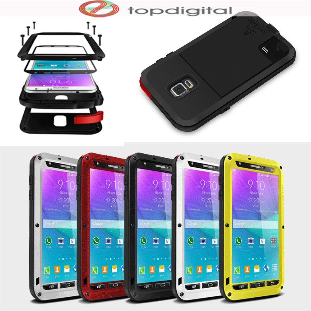 bilder für LIEBE MEI Stoßfest Wasserdicht Fall für Samsung Galaxy Note N9100 4 Hinweis4 Abdeckung Metallgehäuse w Hartglas Displayschutzfolie