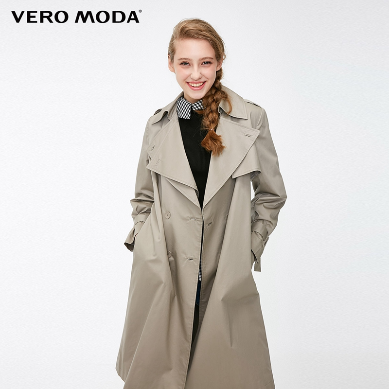 Vero Moda Women s Straight Fit Two tiered Lapel Trench Coat 318321536