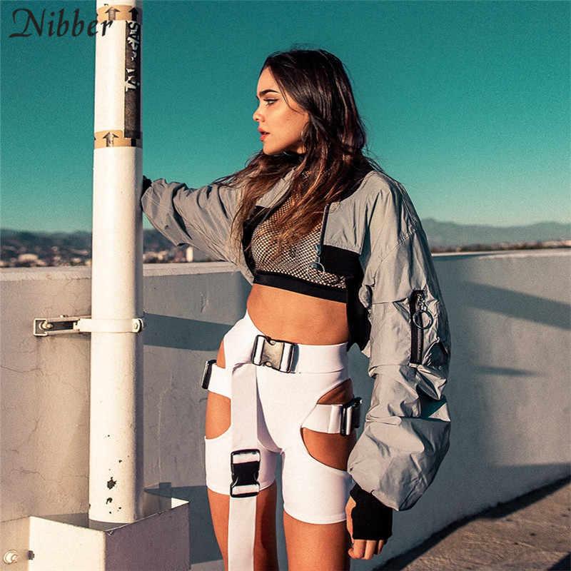 Nibber 2018, осенняя и зимняя новая женская куртка, куртка для спорта и отдыха, короткая, тонкая, Спортивная, сшитая, с молнией, тонкое пальто