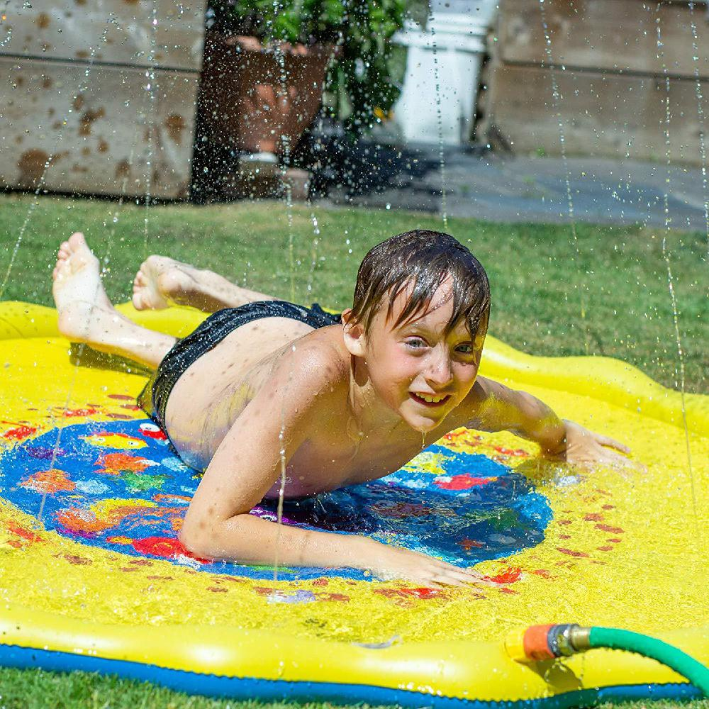 170CM Diameter Kids Water Spraying Game Mat Toy