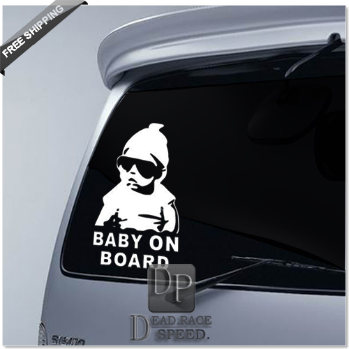 XCar Rear Window Baby On Board Sticker Safty Warning Decal For - Back window decals for cars