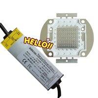 50W 45Mil Chips Blue LED Light Lamp + 50Watt Waterproof AC Driver 85V 265V